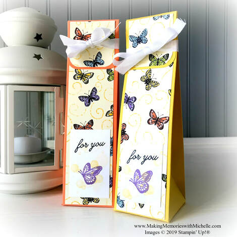 www.MakingMemorieswithMichelle.com  Butterfly Botanicals gusseted treat bags.  Video tutorial and directions on my bog.