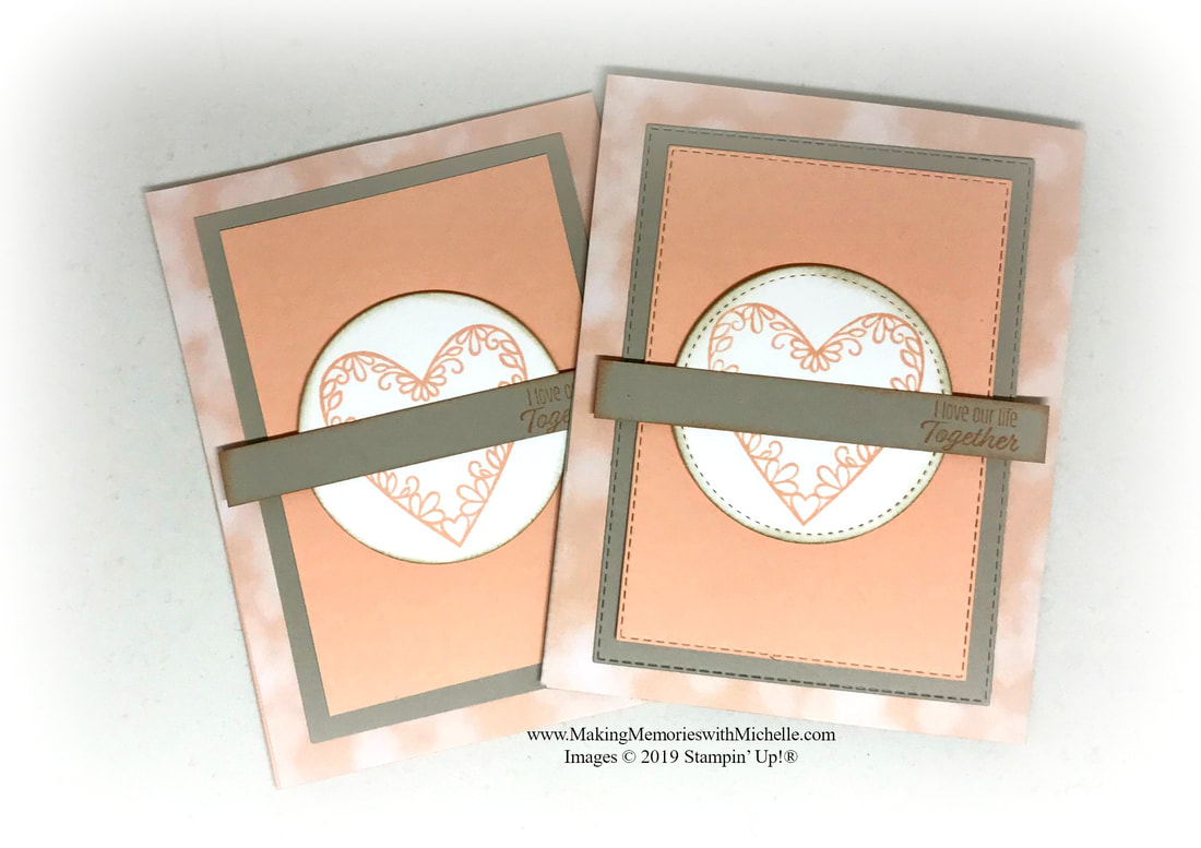 www.MakingMemorieswithMichelle.com #CaseingTuesday183 Meant To Be Stamp Set + Rectangle Stitched Framelits