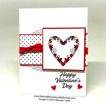 www.MakingMemorieswithMichelle.com Celebrating Valentine's Day with the Meant to Be stamp set.
