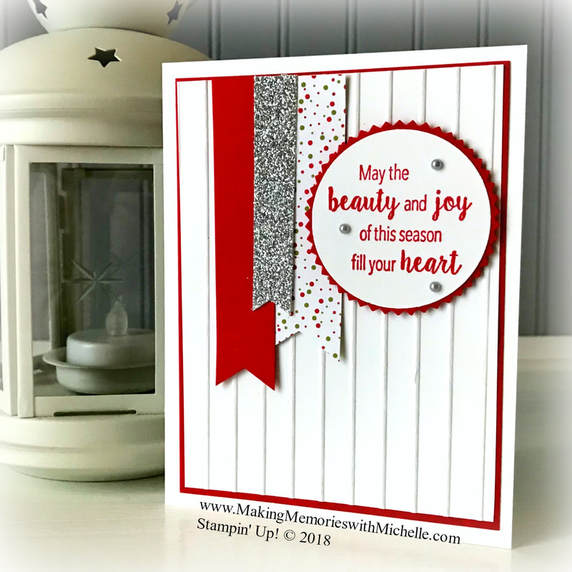 Stylish Christmas and Under the Mistletoe - part of the Buy 3/Get 1 Free Designer Series Paper Sale through 7/31. www.MakingMemorieswithMichelle.com Stampin' Up! © 2018
