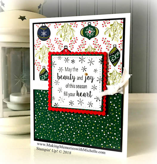 Love it! Chop it! Under the Mistletoe Designer Series Paper. www.MakingMemorieswithMichelle.com Stampin' Up! © 2018