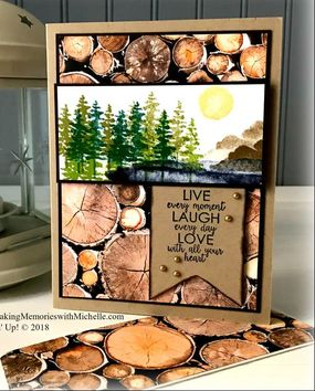 Making Memories with Michelle Product of the Week: Waterfront Stamp Set! It goes so well with the Wood Textures Designer Series Paper, too. www.MakingMemorieswithMichelle.com Stampin' Up! © 2018