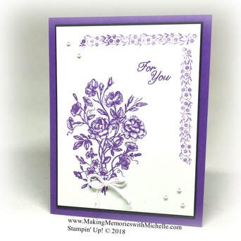 Very Vintage in Highland Heather. www.MakingMemorieswithMichelle.com Stampin' Up! © 2018
