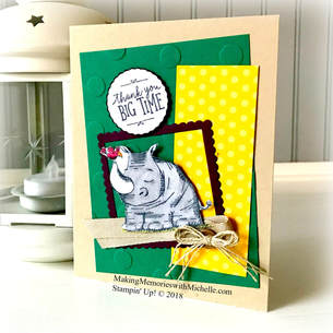 Animal Outing bundle and the Regals Color Collection. www.MakingMemorieswithMichelle.com Stampin' Up! © 2018 #CASEingTuesday153