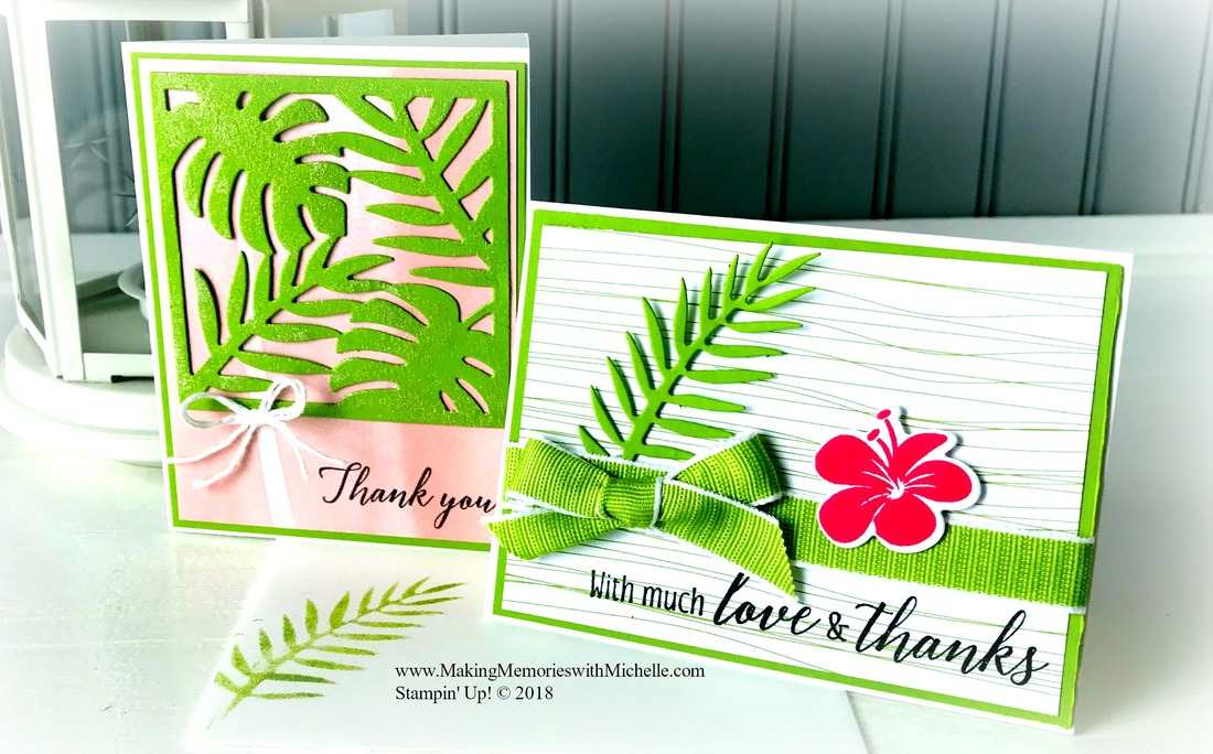 Crafty Saturday! Full Tropical Escape video tutorial on my blog today. www.MakingMemorieswithMichelle.com Stampin' Up! © 2018