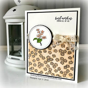 In Every Season, Itty Bitty Greetings, and Share What You Love Designer Series Paper. What's not to love? Making Memories with Michelle. Stampin' Up! © 2018
