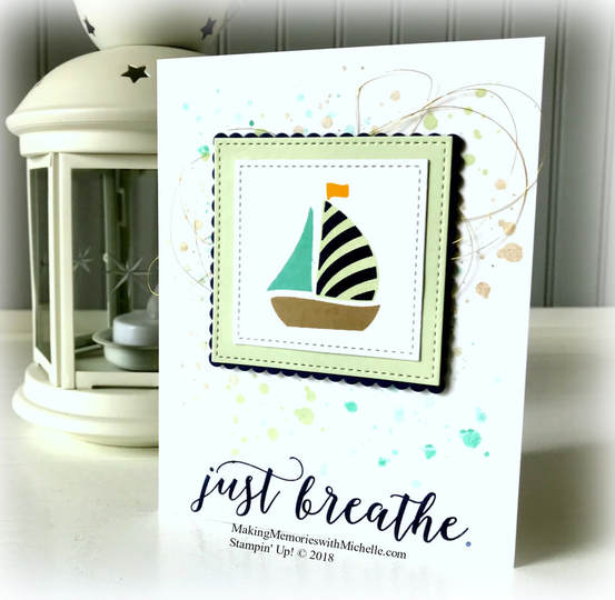 Swirly Bird and color revamp: Coastal Cabana and Soft Seafoam. Making Memories with Michelle. Stampin' Up! © 2018