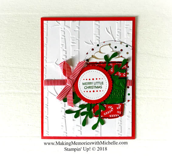 www.MakingMemorieswithMichelle.com It's Red Cup Week with Coffee Cafe and holiday designer series papers. Images © 2018 Stampin' Up!®