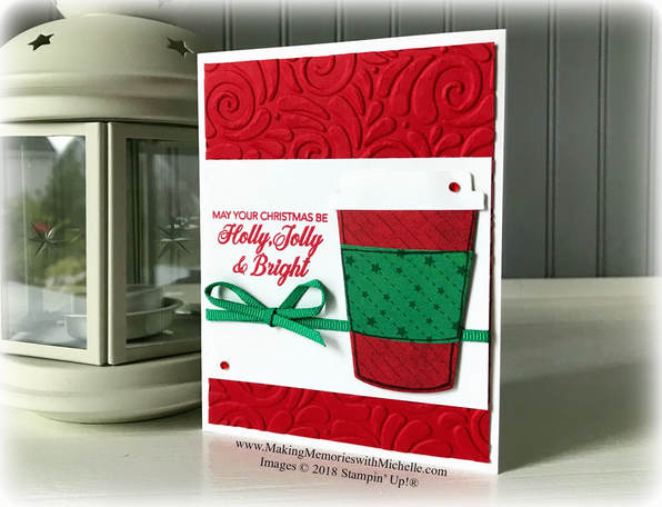 www.MakingMemorieswithMichelle.com This week I'm celebrating the Red Cup with the Coffee Cafe Stamp Set.  Images © 2018 Stampin' Up!®