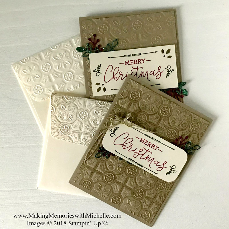 www.MakingMemorieswithMichelle.com  Friday Tip: Emboss the backs of your envelopes for added