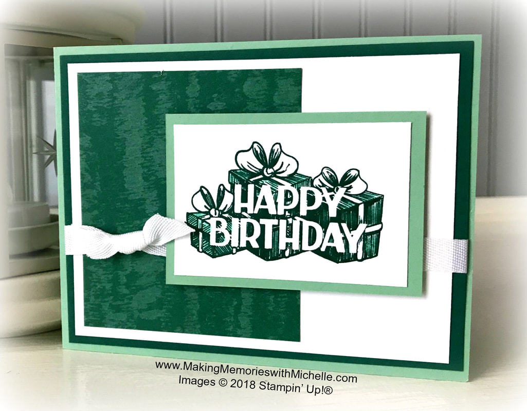 www.MakingMemorieswithMichelle.com Celebrate my birthday week! Simply place an order at my store and use host code PUQY4XD3 before you check out. Your Petal Pink Rhinestone Gems will ship to you later in November, along with a very special handmade thank you card from me.  Images © 2018 Stampin' Up!®