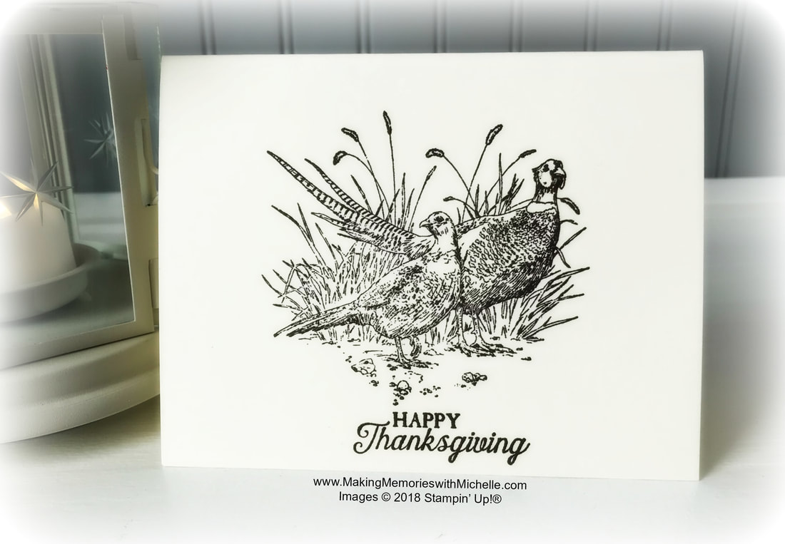 www.MakingMemorieswithMichell.com A Sweet & Simple Beginning Stampers Card with the Pleasant Pheasants Stamp Set