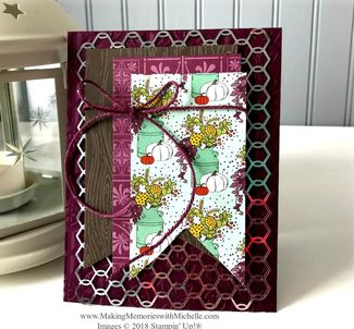 www.MakingMemorieswithMichelle. Happy Thanksgiving with Country Lane Designer Series Paper and the Pleasant Pheasant sentiments (inside).