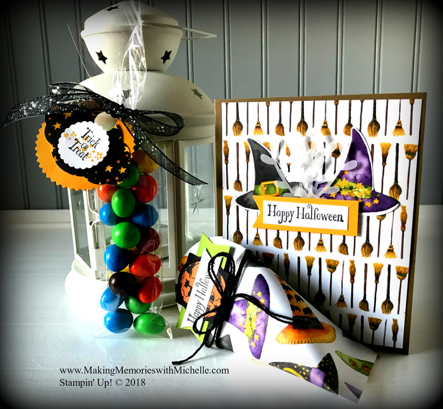 www.MakingMemorieswithMichelle.com Trick or Treat Bags & Tags using the Cauldron Bubble Stamp Set & 2
