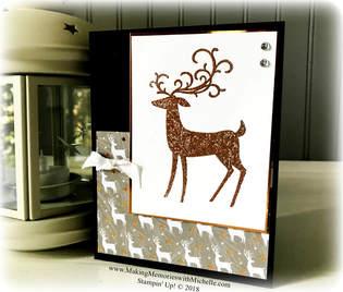 www.MakingMemorieswithMichelle.com. Dashing Deer & Copper Embossing Powder. Stampin' Up! © 2018