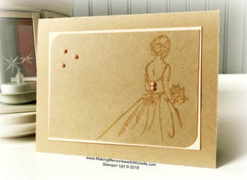 www.MakingMemorieswithMichelle.com Wonderful Moments sponged with Champagne Mist Shimmer Paint, tinted with Petal Pink Ink. Stampin' Up! © 2018