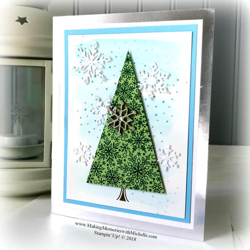 www.MakingMemorieswithMichelle.com The new Snow is Glistening Stamp Set and Snowfall Thinlet Dies, along with Snowflake Trinkets and White Velvet Paper. These are available while supplies last from 11/1-11/30. Or, if you want them earlier, join my Stamping Bee team and order yours today!