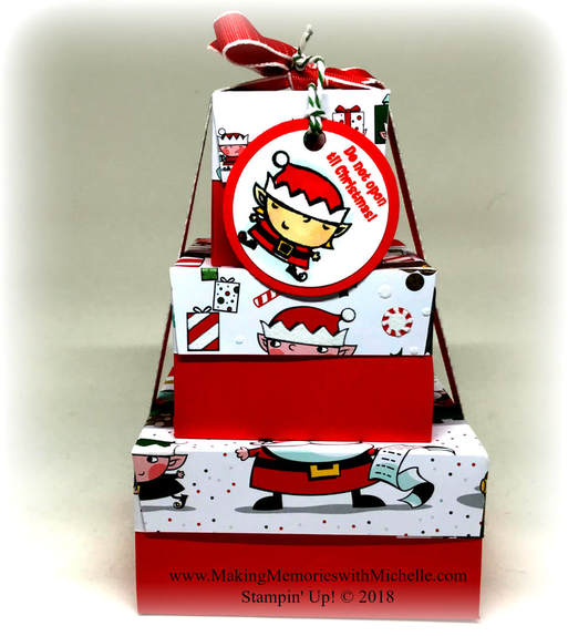 www.MakingMemorieswithMichelle.com Crafty Saturday Video - Signs of Santa Gift Boxes.