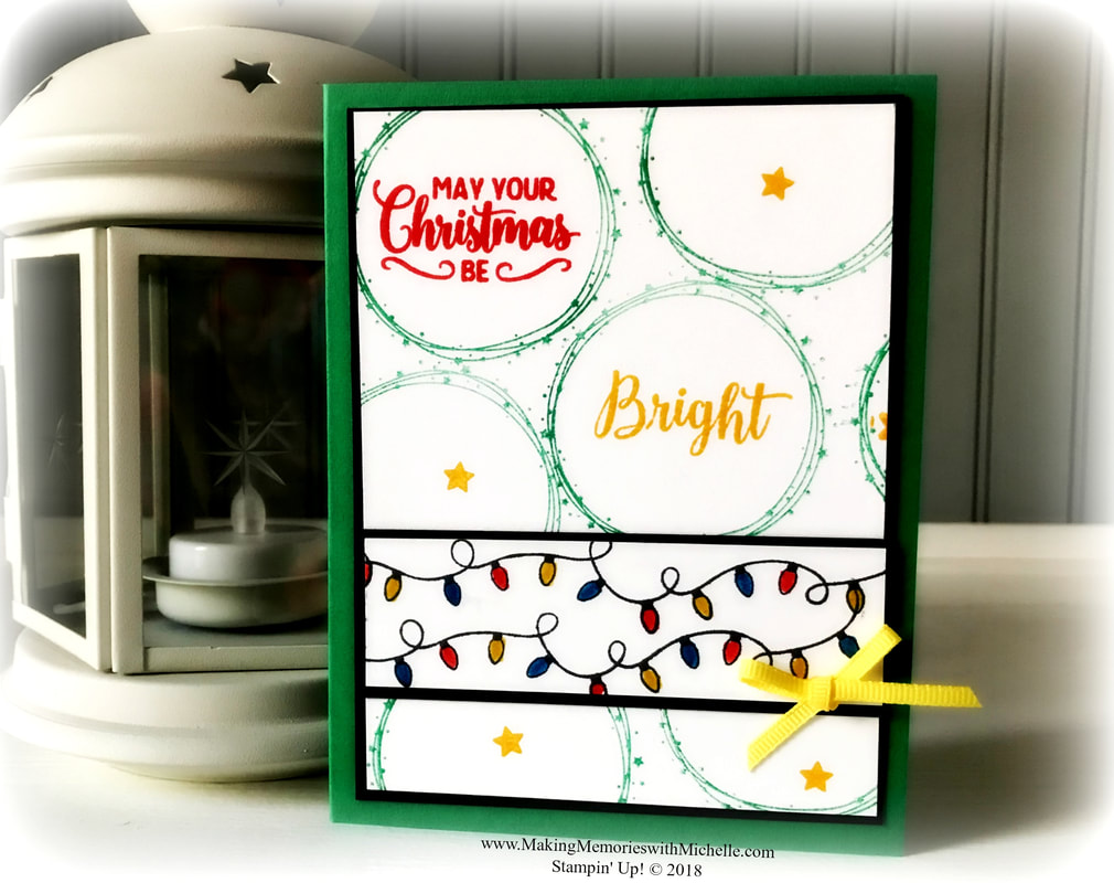 www.MakingMemorieswithMichelle.com My Making Christmas Bright entry for the Inspire. Create. Challenge 29. Stampin' Up! © 2018