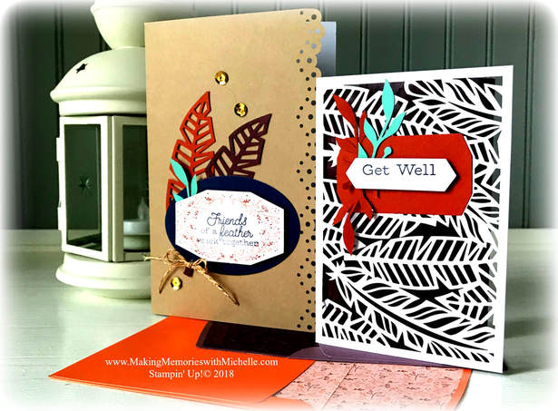 www.MakingMemorieswithMichelle.com October 2018 Paper Pumpkin Friends of a Feather. Stampin' Up! © 2018
