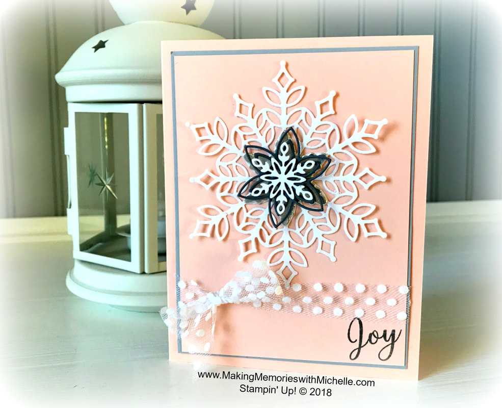 www.MakingMemorieswithMichelle.com Snow is glistening with White Velvet Snowflakes. Stampin' Up! © 2018