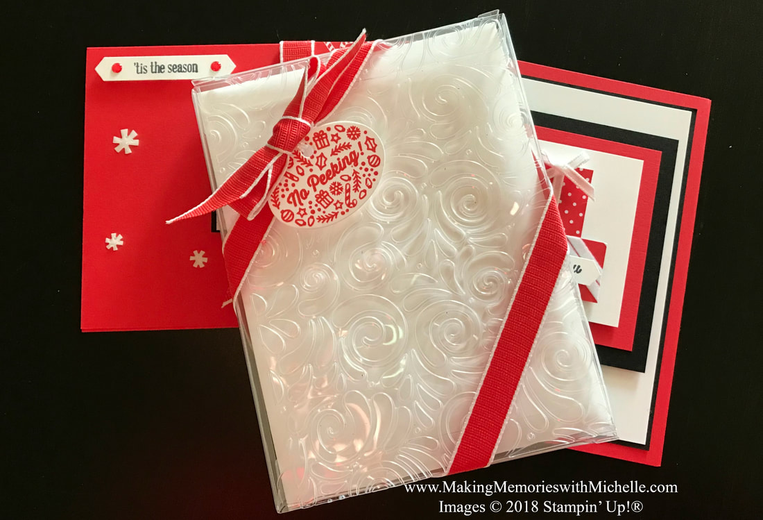 www.MakingMemorieswithMichelle.com Embossing...it's not just for paper anymore! Try embossing the Stampin' Up! Acetate Card Boxes for gift boxes that are sure to leave a lasting impression! Images © 2018 Stampin' Up!®