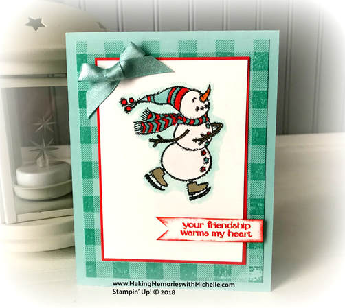 www.MakingMemorieswithMichelle.com #CaseingTuesday163 The Spirited Snowman Stamp Set is available in the new 2018 Holiday Catalog, beginning September 5. Stampin' Up! © 2018