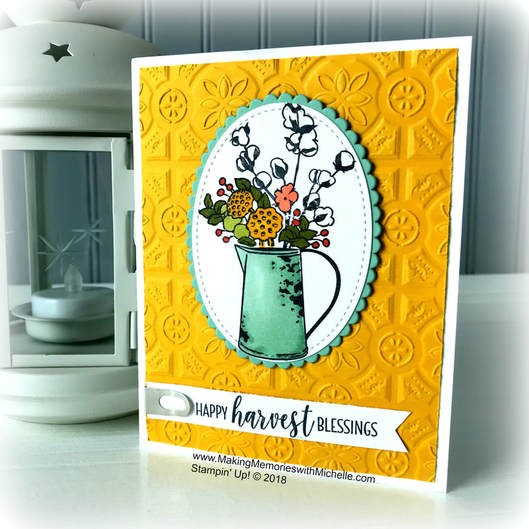 Picturwww.MakingMemorieswithMichelle.com Product of the Week: Country Lane Suite. Stampin' Up! © 2018e