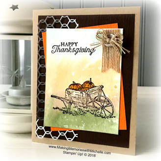 www.MakingMemorieswithMichelle.com Pleasant Pheasants were featured on #CaseingTuesday164 Stampin' Up! © 2018