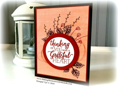 www.MakingMemorieswithMichelle.com  Counting my blessings with the Falling for Leaves Stamp Set.  Stampin' Up! © 2018