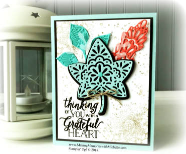 Picturewww.MakingMemorieswithMichelle.com Friday Tips & Tricks: Use the Take Your Pick Tool to make sure all small die pieces, like the Falling For Leaves dies, are removed completely. Stampin' Up! © 2018