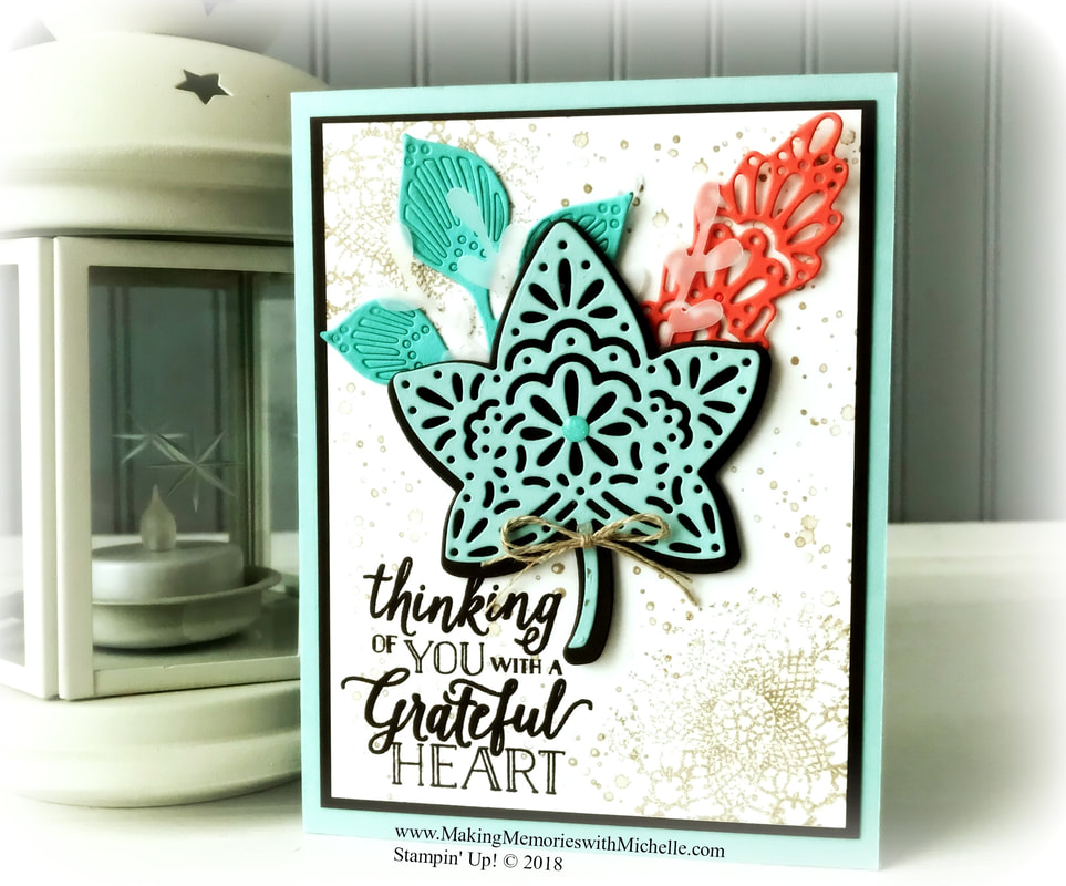 www.MakingMemorieswithMichelle.com Friday Tips & Tricks: Use the Take Your Pick Tool to make sure all small die pieces, like the Falling For Leaves dies, are removed completely. Stampin' Up! © 2018