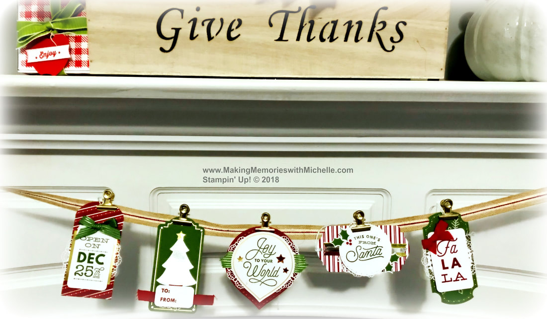 www.MakingMemorieswithMichelle.com  The Sincerely Santa Project Kit is perfect for quick holiday home decor. Stampin' Up! © 2018