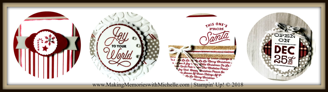 www.MakingMemorieswithMichelle.com October Card Club. Sincerely Santa 8 cards, 4 each of 2 designs. Includes a full pack of Frosted & Clear Epoxy Droplets; a full spool of 5/8