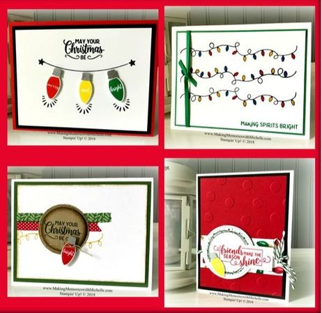 www.MakingMemorieswithMichelle.com Order the Making Christmas Bright Cards Supply Set, and I will send you the 4-card tutorial from my Making Christmas Bright Sweet & Simple Class absolutely free as a thank you gift. Stampin' Up! © 2018