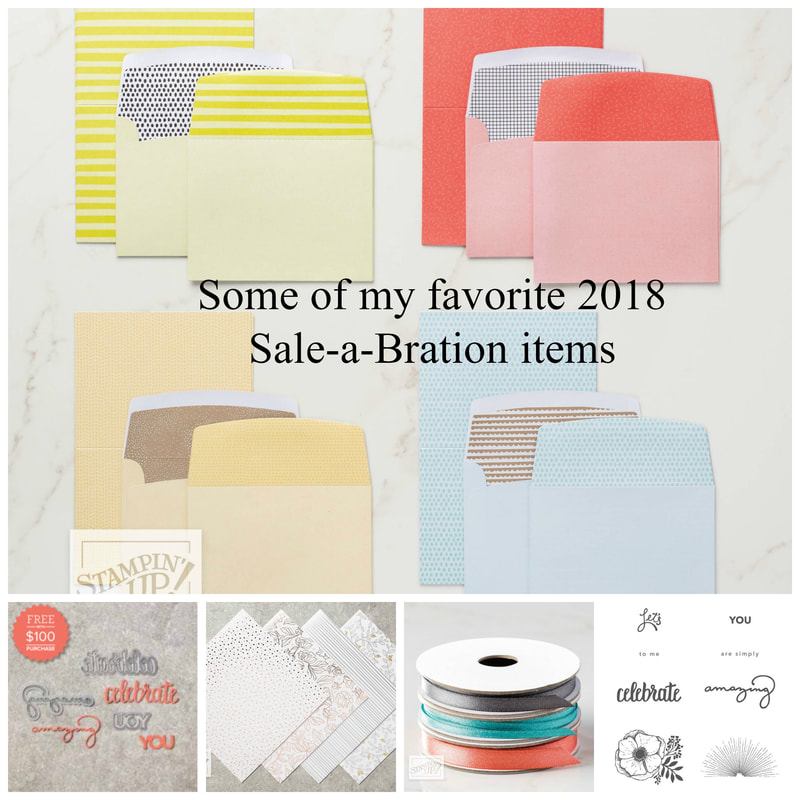 Some of my favorite 2018 Sale-a-Bration items!