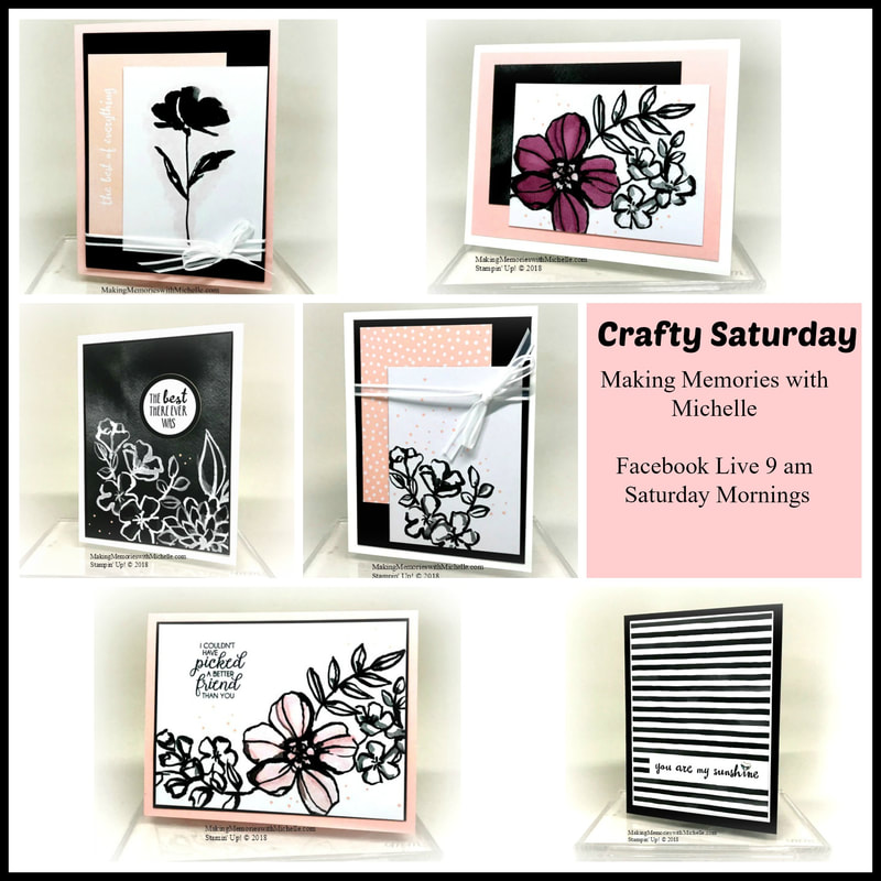 Crafting is Sweet, Simple, and Easy when you use the Petal Passion Memories and More Card Pack. Video and measurements are on my blog today. Making Memories with Michelle. Stampin' Up! © 2018