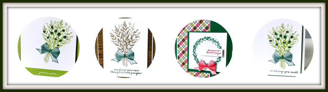 www.MakingMemorieswithMichelle.com The September Card Club includes 8 cards, 2 each of 4 designs + the Wishing You Well Stamp Set. Chose 2 in Person dates, 9/28 or 9/29, or get your class delivered right to your door. Registration is due 9/15. Stampin' Up! © 2018