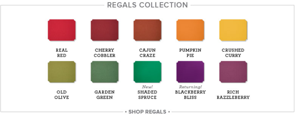The 2018 Regals Color Collection. www.MakingMemorieswithMichelle.com Stampin' Up! © 2018