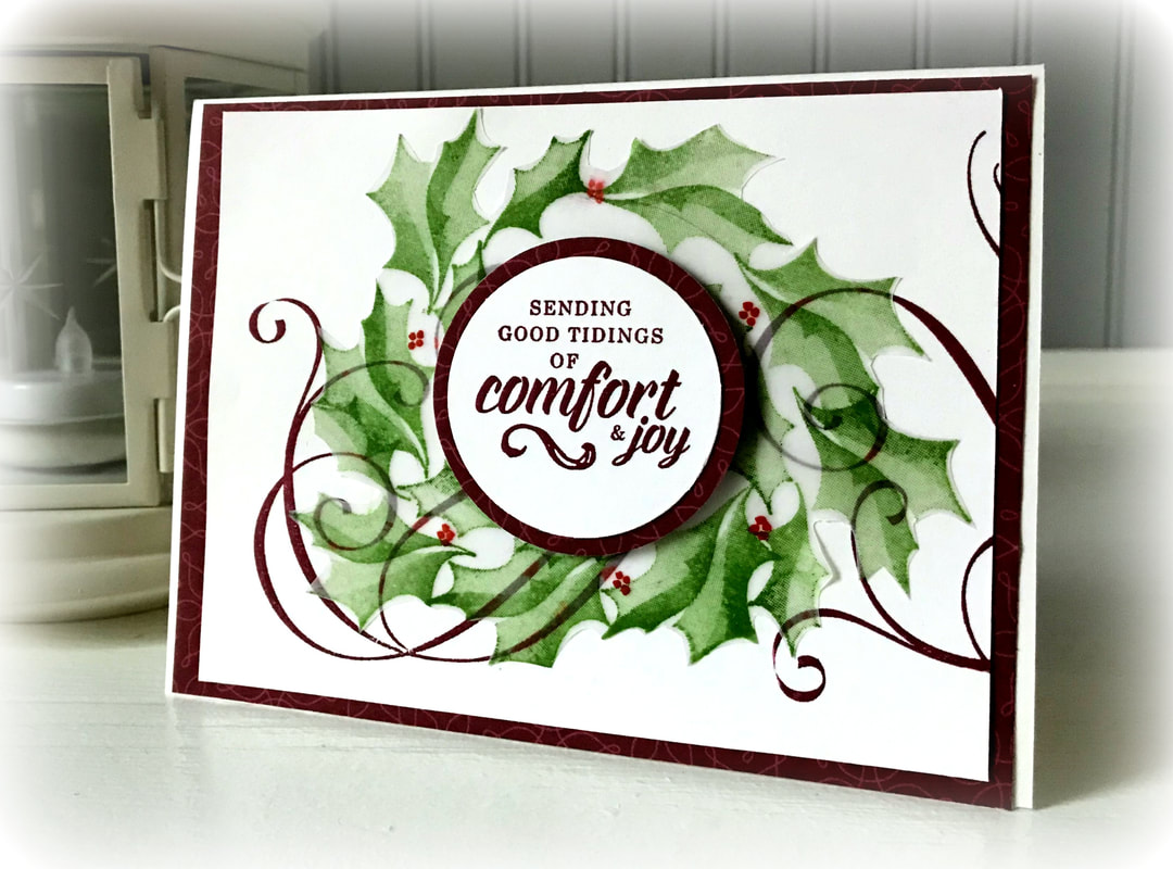 www.MakingMemorieswithMichelle.com  Stamping Bee October Team Meeting swap.  Stylish Christmas  Stampnin' Up! © 2018