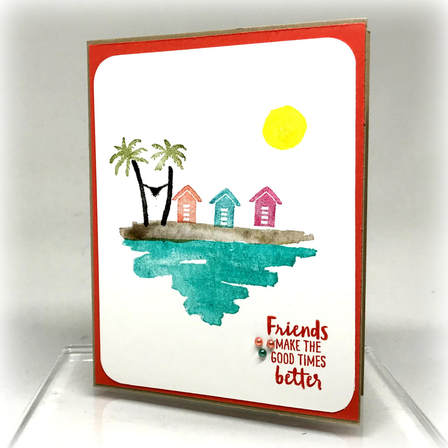 Friends Make the Good Times Better, from the Waterfront Stamp Set. www.MakingMemorieswithMichelle.com Stampin' Up! © 2018