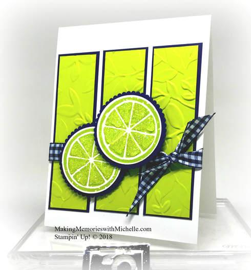 Creative Inking Blog Hop: Lemon Zest Stamp Set. Making Memories with Michelle. Stampin' Up! © 2018