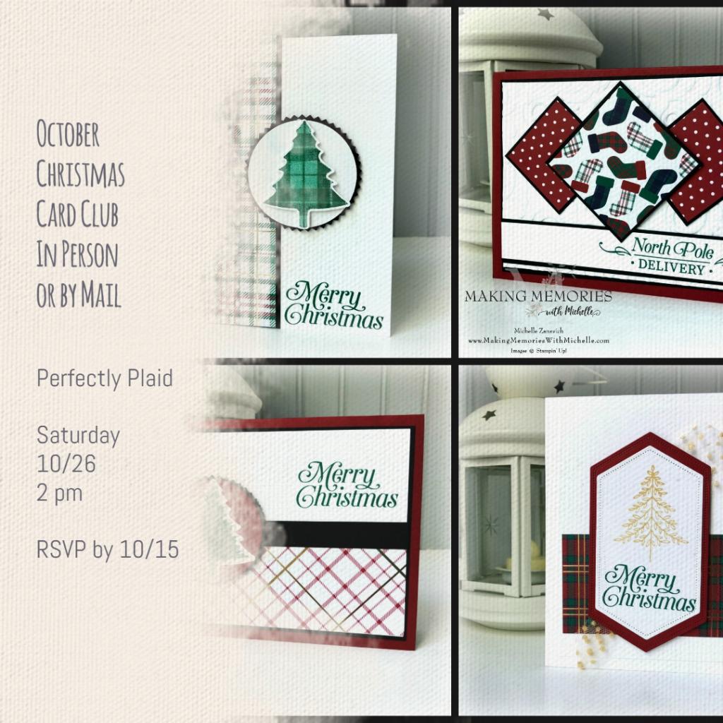 Perfectly Plaid Christmas Card Club