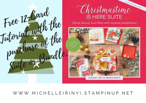 Free 12-card tutorial with purchase of ChristmasTime is Here Suite or Bundle