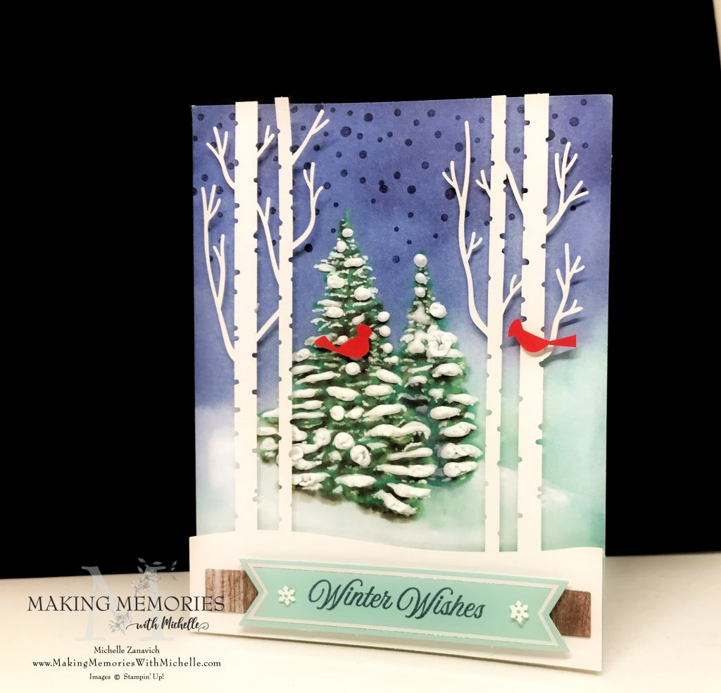Making Memories with Michelle Winter Wonders Paper Pumpin with Snowfall accents Puff Paint