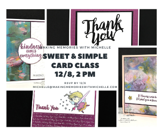 Making Memories with Michelle Sweet & Simple Class