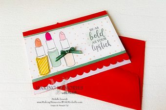 Making Memories with Michelle Scalloped Note Cards
