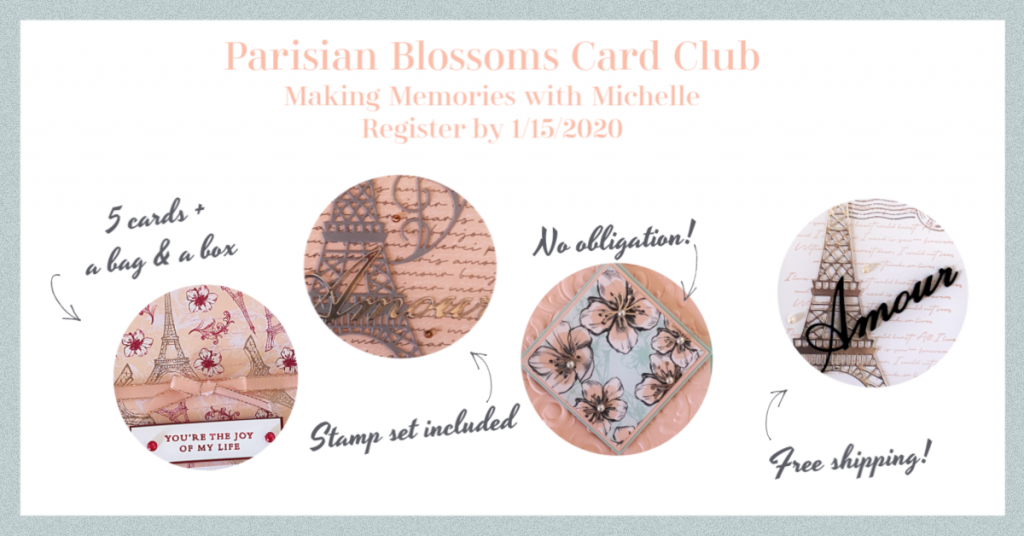 Making Memories with Michelle Card Club