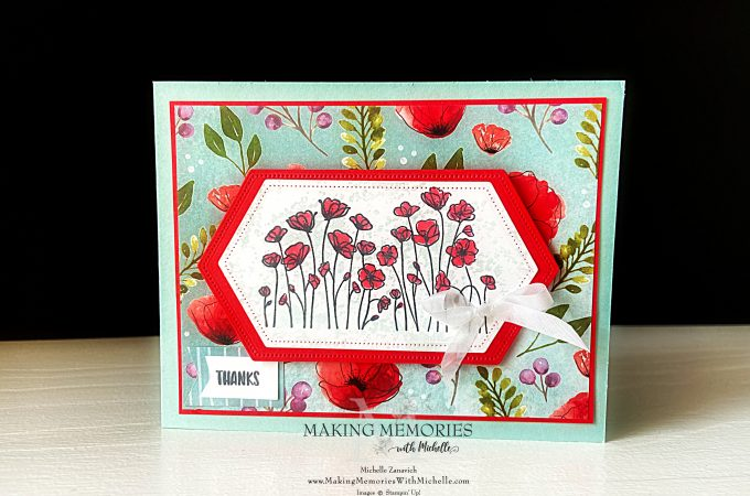 Making Memories with Michelle Painted Poppies