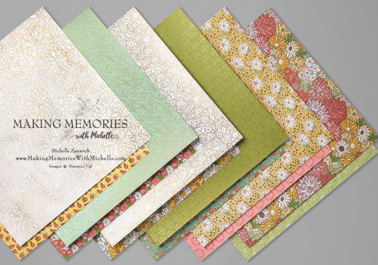 Making Memories with Michelle Ornate Garden Paper